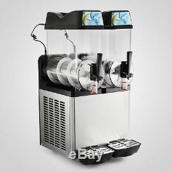 Commercial Boisson Congelée 2 Réservoir Slush Slushy Faire Machine Smoothie Maker