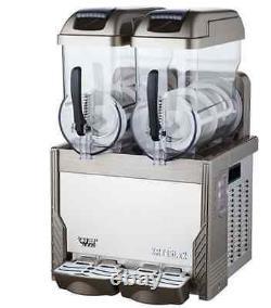 Commercial Rouge 2 Réservoir De Boisson Congelée Slushy Slushy Faire Machine Smoothie Maker M