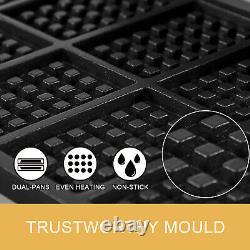 Commercial Square Waffle Maker 10pc Machine Belge De Fabrication De Gaufres