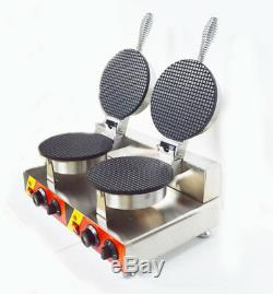 Cornet De Glace Machine De Fabrication Egg Roll Gaufrier Double Baker Fer 110v