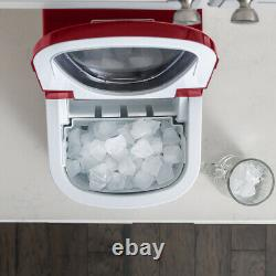 Déco Machine De Comptoir Portable Ice Maker (rouge) Fait 26 Livres De Glace Par Jour