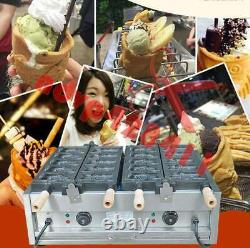 Électrique 220 V Bouche Ouverte Taiyaki Maker Fryer Poisson Faire 2plate / 5 Poissons Machine
