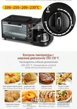 Électrique 3 En 1 Petit-déjeuner Fabrication Machine Four Grille-pain Cafetière Multifonction