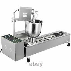 Entièrement Automatique Donut Fryer Maker En Acier Inoxydable Donut Faire Machine Batterie De Cuisine