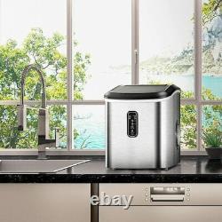 Euhomy Ice Maker Machine Countertop, Fait 26 Lbs En 24 Heures-ice Silver