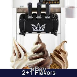 Fabrication Commerciale Crème Glacée Molle Machine 3 Saveur Douce Yaourtière Countertop