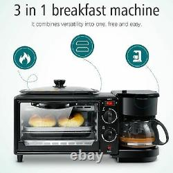 Four Électrique 3 En 1 Cafetière Multifonction Machine À Goutte