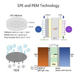 Gosoit Bouteille D'hydrogène De L'eau Alcaline Machine Maker Avec Spe Et Pem Dupont Marque