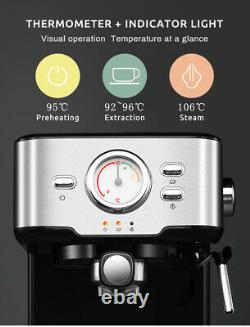 Hibrew Semi-automatic Coffee Maker Express Faire Avec Visual Thermometer Machine