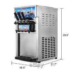 Ice Cream Doux Commerciale Maker Yogourt Glacé Machine De Fabrication De 3 Saveur 18l / H Ce