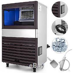 Ice Maker Commerciale Ice Cube Machine De Fabrication Intégrée Inoxydable Restaurant Acier