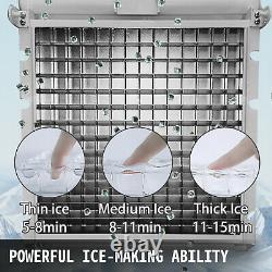 Ice Maker Machine À Glace Commerciale 132lbs Ice Cube Machine De Fabrication En Acier Inoxydable