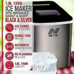 L'utilisation À La Maison De Machine De Machine De Glace Fait Des Cubes En 10 Minutes Grande Capacité De 12kg