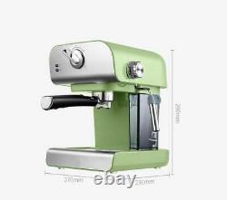 Machine À Expresso Domestique Latte Cappuccino Cafetière Vapeur Fonction 850w