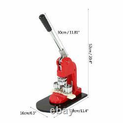 Machine De Fabricant D'insigne De 32mm Faisant Le Coupeur De Bouton De Goupille Avec Le Bouton De Cercle De 1000