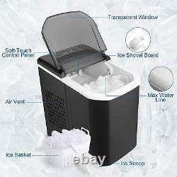 Machine De Machine De Glace Countertop, Portable Compact Ice Cube Makers, Marque 26