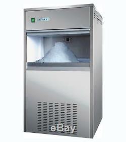 Maker Commercial Snow Flake Glace Machine De Fabrication De 100 KG / 24h 40kg Capacité De Stockage