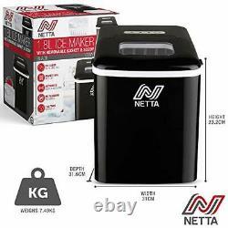 Netta Ice Maker Machine Pour Utilisation À Domicile Rend Cubes En 10 Minutes Grand 12kg