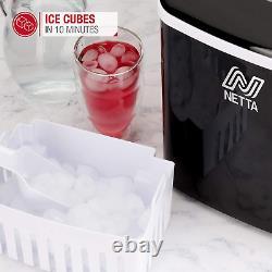 Netta Machine Machine À Glaçons Pour Usage À Domicile Fait Cubes En 10 Minutes Grande 12kg 1.8l