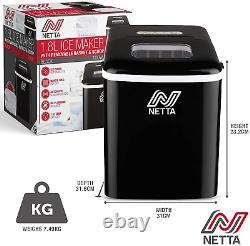 Netta Machine Machine Machine À Glaçons Pour Une Utilisation À Domicile Fait Cubes En 10 Minutes Grande 12kg 1.8l
