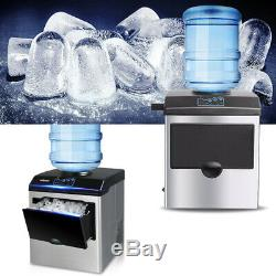 New Electric Auto Ice Maker Bullet Countertop Ice Cube Making Machine 160w 220v