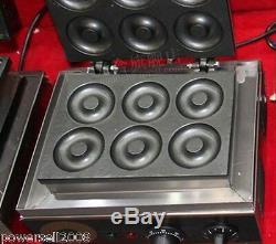 Nouveau 1500w Commercial 6 Lattice Électrique Donut Machine De Fabrication De Farine Beignes