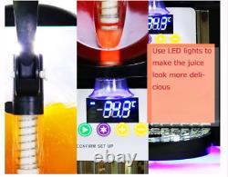Nouveau 2 Réservoir Frozen Drink Slush Slushy Making Machine Juice Smoothie Maker 2-2l