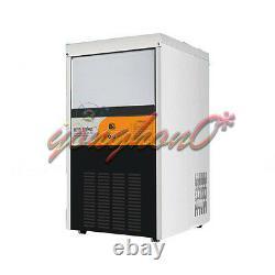 Nouveau 60kg Electric Commercial Ice Making Machine Milk Tea Ice Maker 220v Sortie