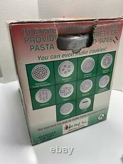 Nouveau Dans La Boîte Pastarrific Fresh Pasta Machine Maker Automatique Faire Des Cookies Trop
