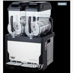 Red Commercial 2 Réservoir Frozen Drink Slush Slushy Making Machine Smoothie Maker Bi