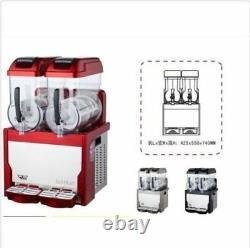 Red Commercial 2 Tank Frozen Drink Slush Slushy Making Machine Smoothie Maker U