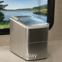 Rv Machine À Glaçons Portable Countertop Ice Machine 120v Fait 26 Lbs De Glace Par Jour