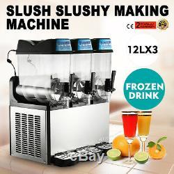 Slush Machine De Fabrication 3 Boisson Glacée Réservoir Neige Smoothie Maker Commercial Hq