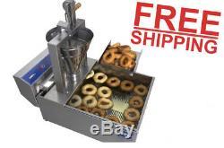 Small Business Compact Donut Fryer Maker Machine De Fabrication 350 Pièces / H Professionnel