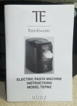 Todd Anglais Vertical Pasta Machine Tepm2, Flambant Neuf Dans La Boîte! Fabrication De Fabricant
