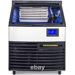 Vevor 265lbs Commercial Ice Maker Ice Maker Ice Cube Making Machine Avec Bac De Stockage De 99 Lbs