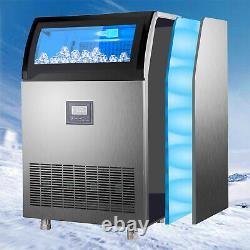 Vevor 265lbs Commercial Ice Maker Machine À Fabriquer Des Glaçons En Acier Inoxydable