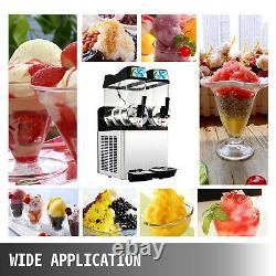 Vevor Commercial 24l Slush Making Machine Frozen Drink Machine Ice Maker 2 Réservoirs