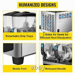 Vevor Commercial 2 Réservoirs Boissons Congelées Slushy Making Machine Smoothie Maker 30l