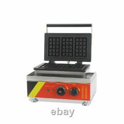 Waffle Maker Belge Iron Baker Machine Pour Dessert Making 110v Antistick 3pcs