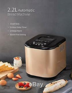 Yabano 650w Machine À Pain 19 Programmes Machine De Make Pan Avec Distributeur Automatique
